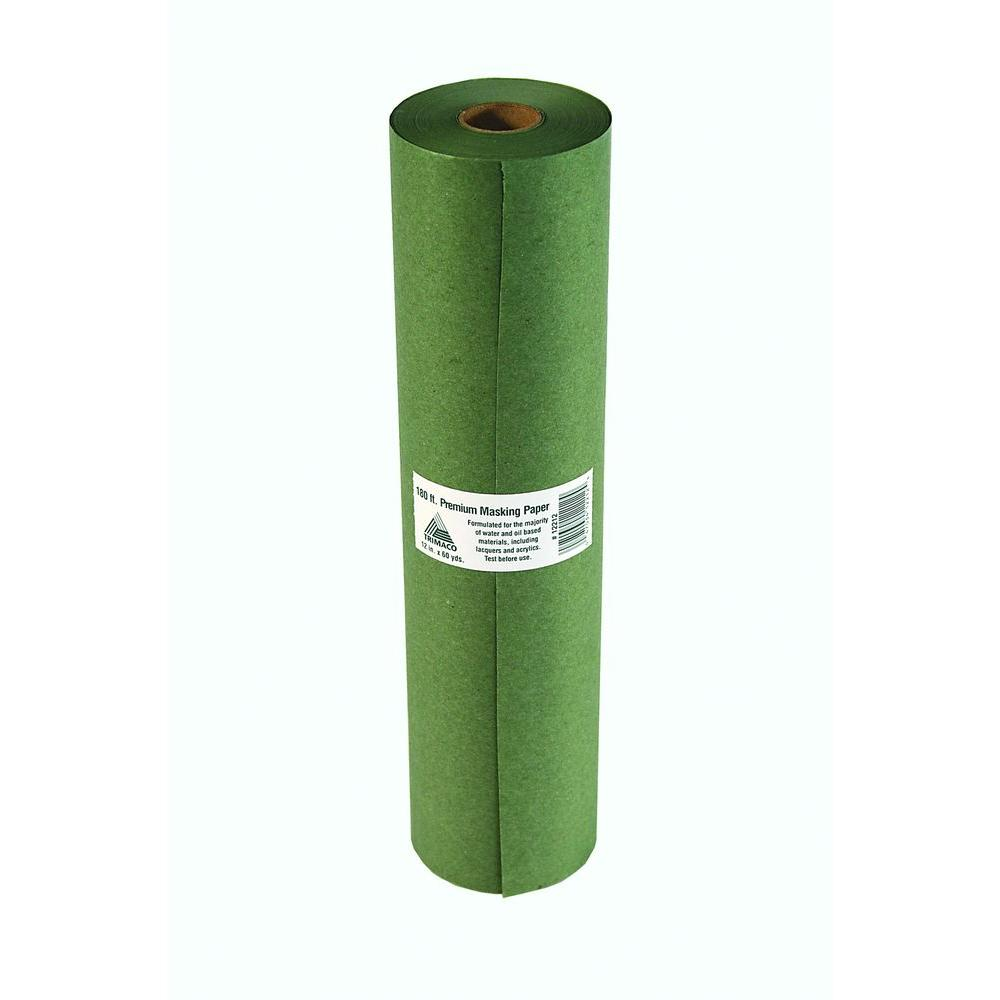 TRIMACO Easy Mask 12 IN. X 180 FT. Green Premium Masking Paper