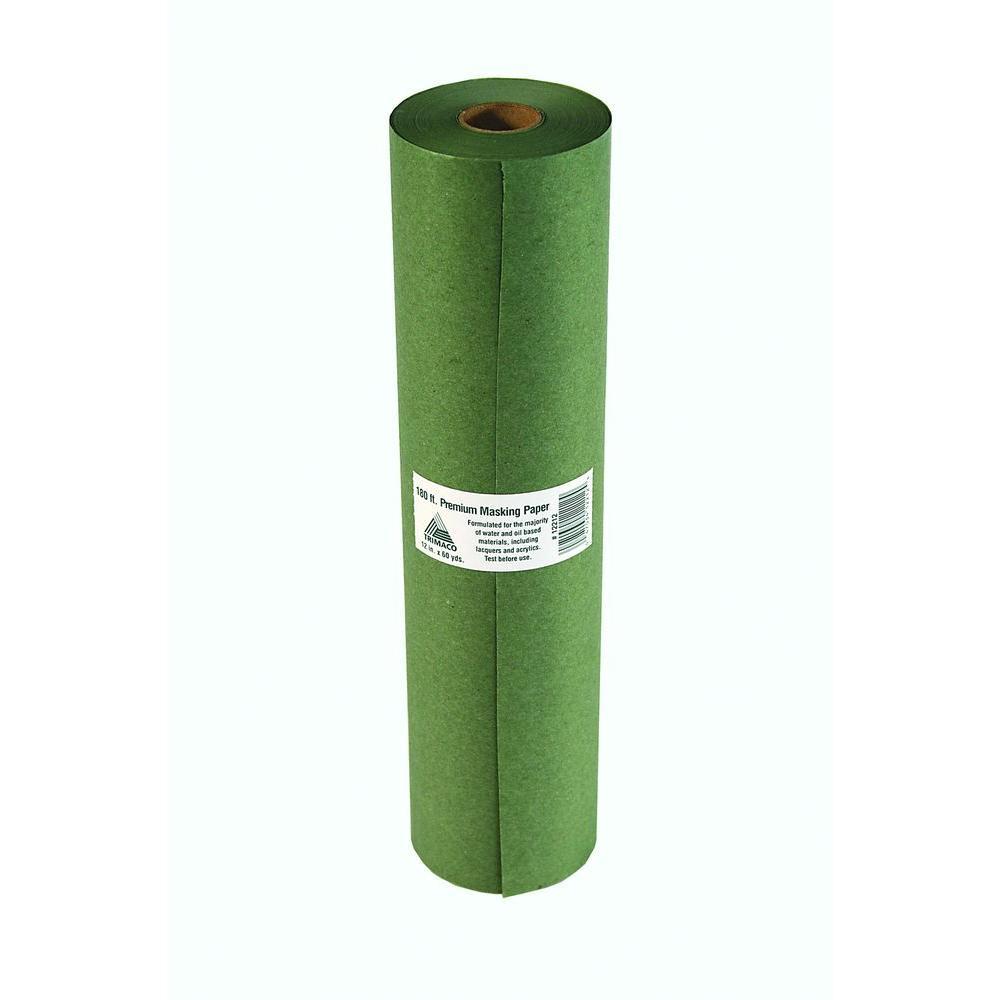 "Trimaco Easy Mask 12""X180' Green Premium Masking Paper"