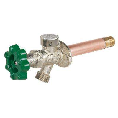 1/2 in. x 8 in. Brass MPT x SWT Heavy Duty Quarter-Turn Frost Free Anti-Siphon Outdoor Faucet Hydrant
