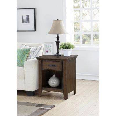 Rockwell Distressed Wheat End Table