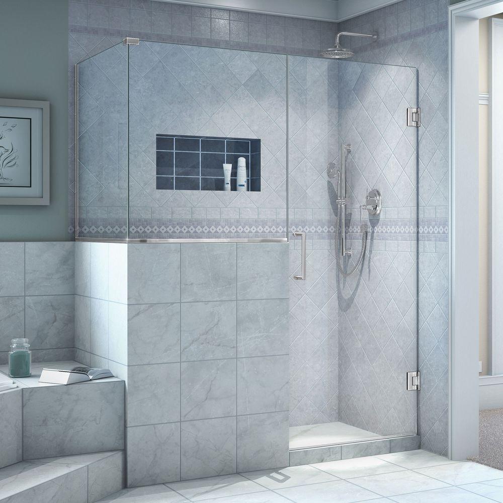 36 x 36 corner shower stall. DreamLine Unidoor Plus 36 3 8 in  x 47 72 Frameless Pivot Corner Shower Enclosure Chrome SHEN 2423243636 01 The Home Depot