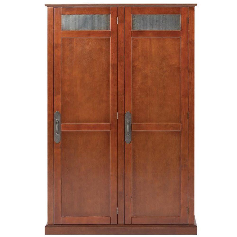 Payton 47.5 in. W x 72.25 in. H x 18 in. D Double Door Storage Locker in Chestnut