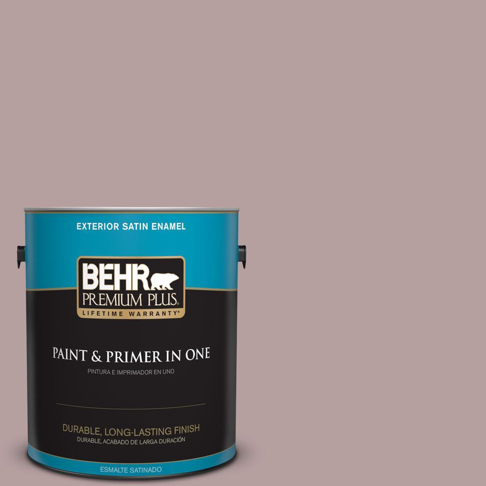 BEHR Premium Plus 1-gal. #N130-4 Plum Taupe Satin Enamel Exterior Paint