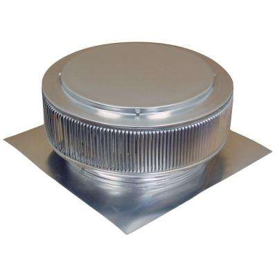 14 in. Mill Finish Aluminum Roof Vent No Moving Parts Wind Turbine