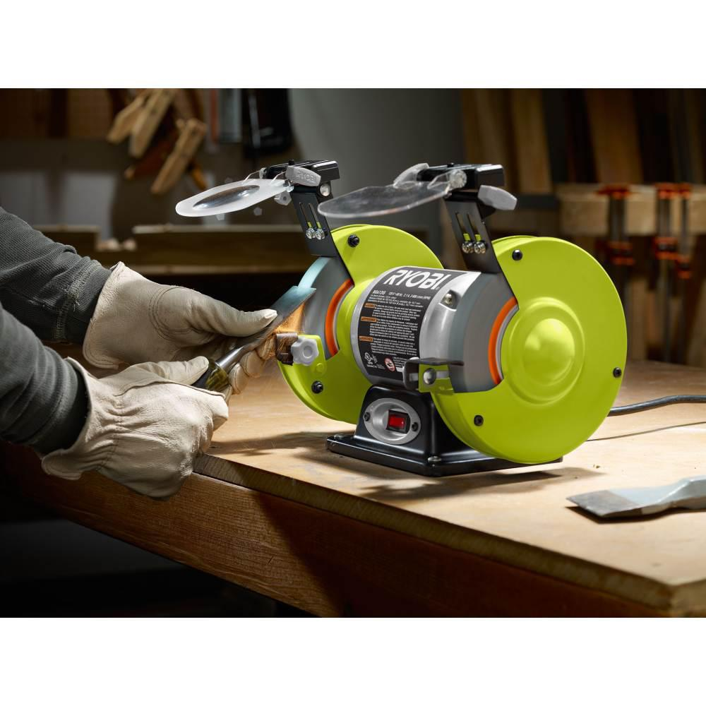 Pleasing Ryobi 2 1 Amp 6 In Grinder With Led Lights Machost Co Dining Chair Design Ideas Machostcouk