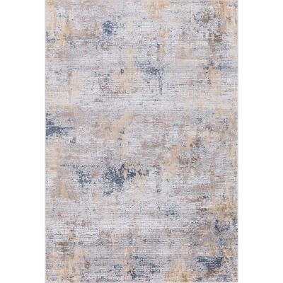 Hilamrose Gold Abstract 10 ft. 3 in. x 14 ft. Area Rug
