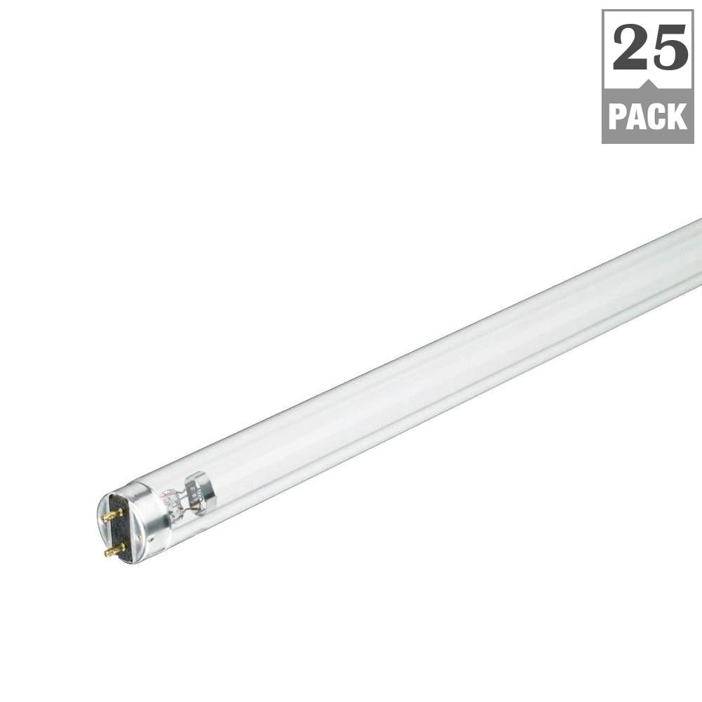 25-Watt 18 in. Germicidal Linear TUV T8 Fluorescent Light Bulb (25-Pack)