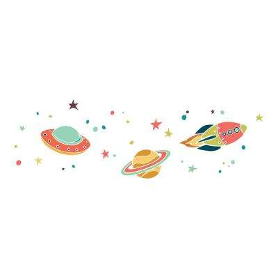 26.4 in. x 37 in. UFO Wall Decal
