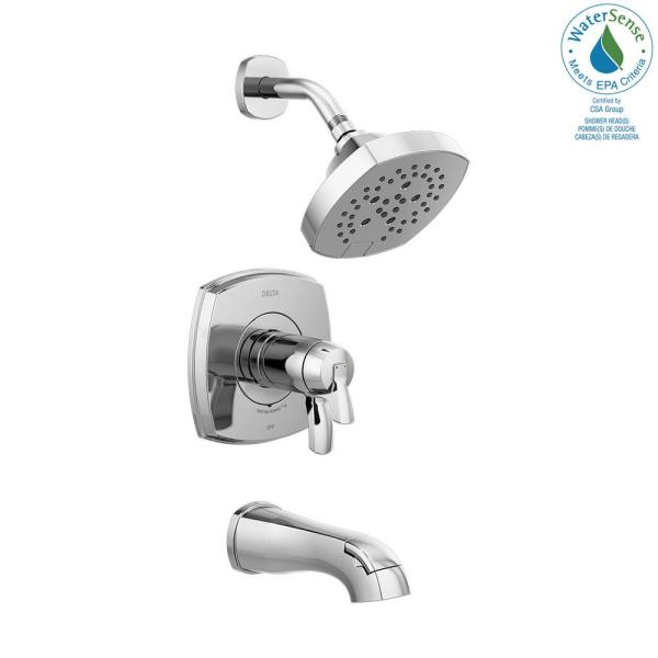 Stryke TempAssure 1-Handle Wall Mount 5-Spray Tub and Shower Faucet Trim Kit in Chrome (Valve Not Included)