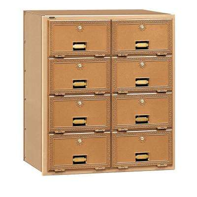 2000 Series Brass Rear Loading Mailbox with 8 Doors