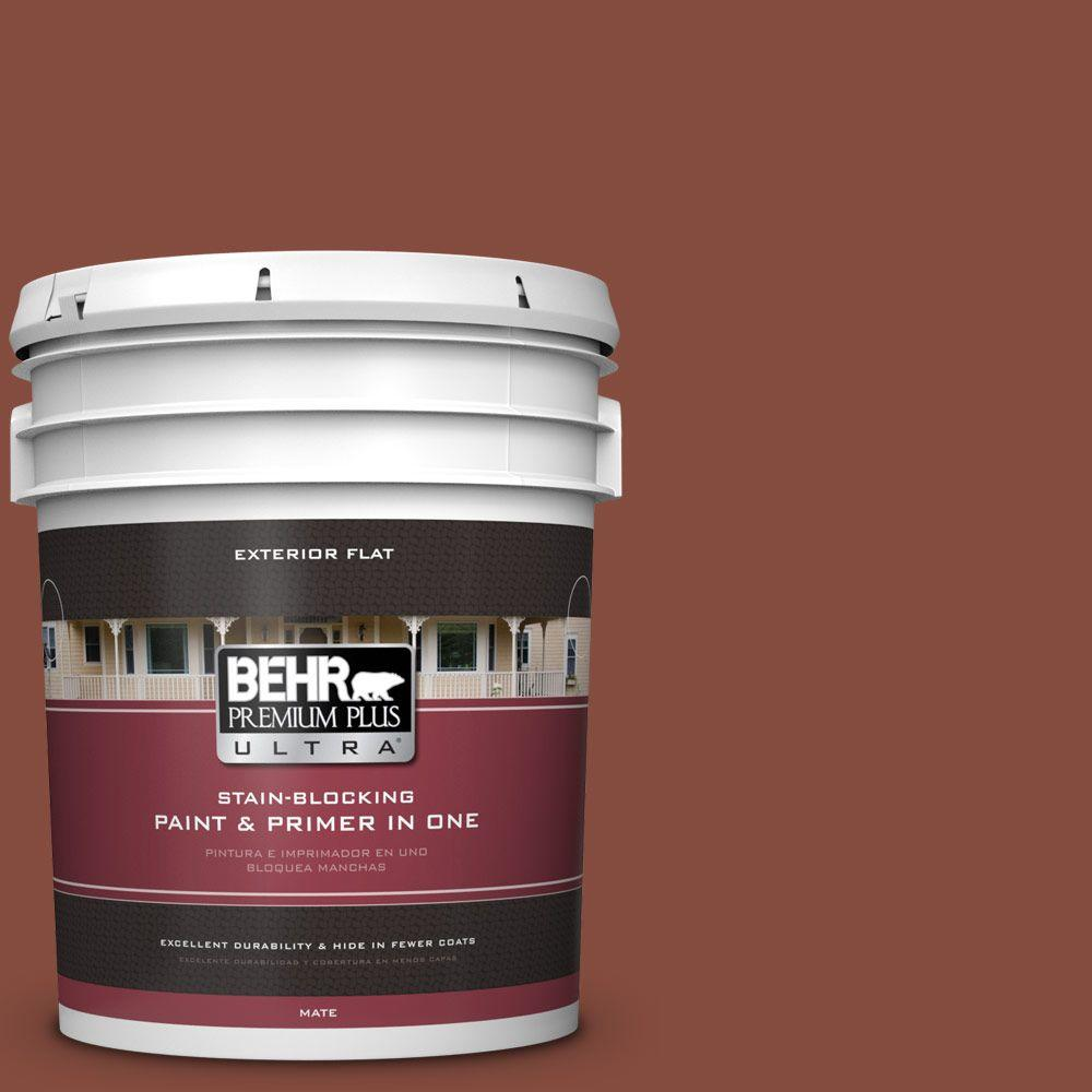 BEHR Premium Plus Ultra 5-gal. #S160-7 Red Chipotle Flat Exterior Paint