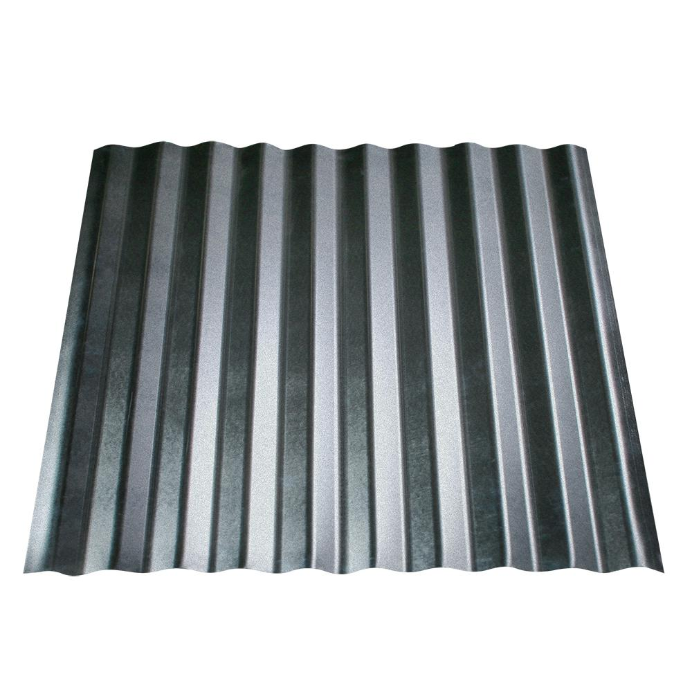 Metal Roofing Panels : Fabral shelterguard in ft galvanized steel