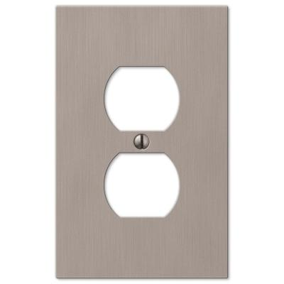 Barnard 1 Gang Duplex Metal Wall Plate - Brushed Nickel
