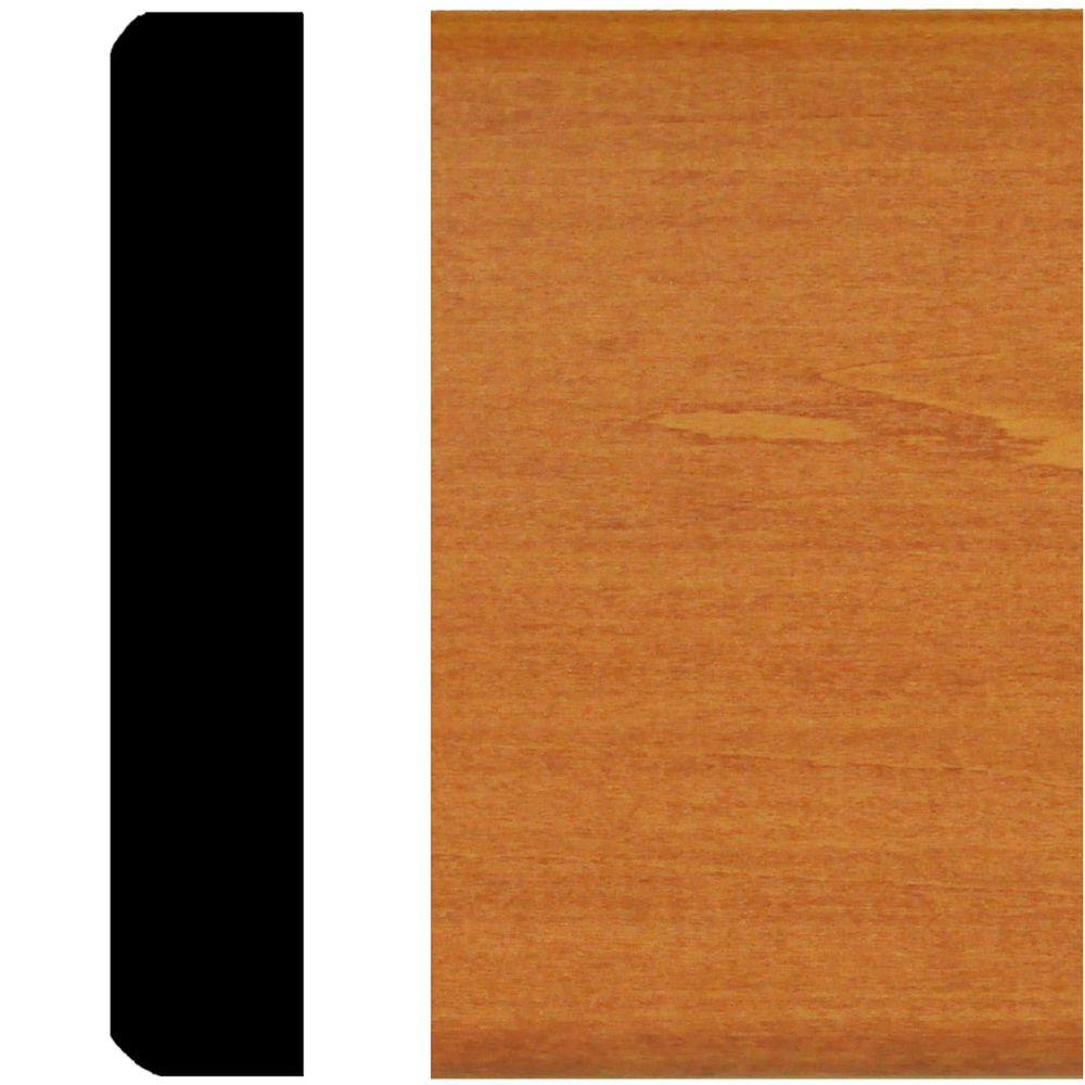3/4 In. X 4 In. X 8 Ft. Hardwood Stained Cherry Mullion