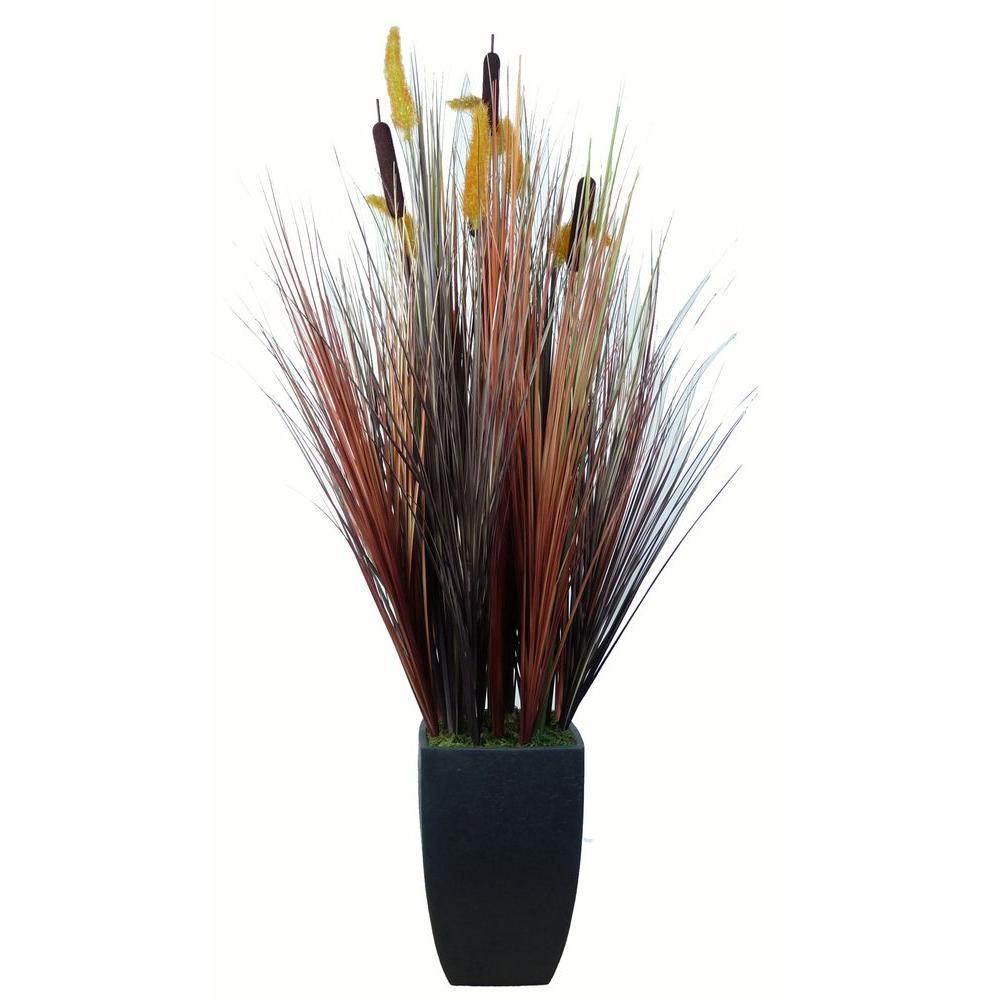 Tall Realistic Silk Contemporary Onion Gr Plant With Planter Vha101717 The Home Depot