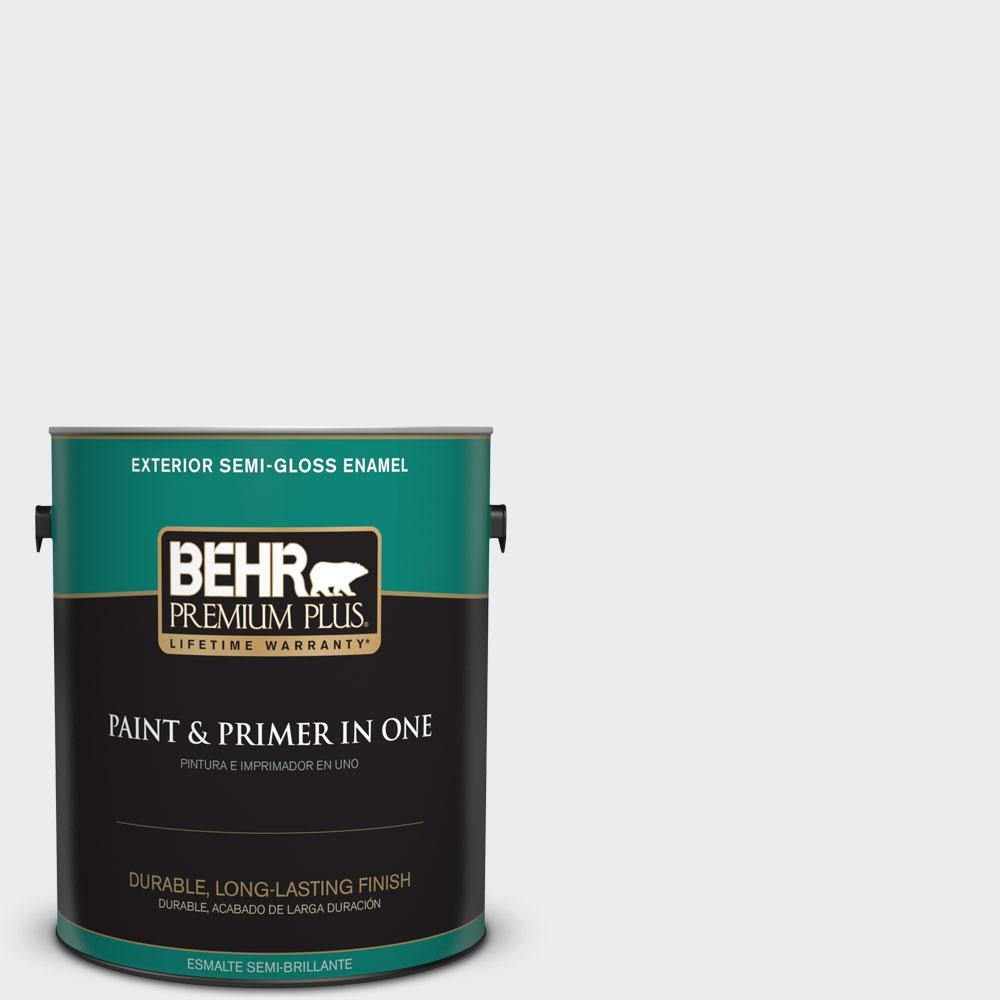 1-gal. #BWC-12 Vibrant White Semi-Gloss Enamel Exterior Paint