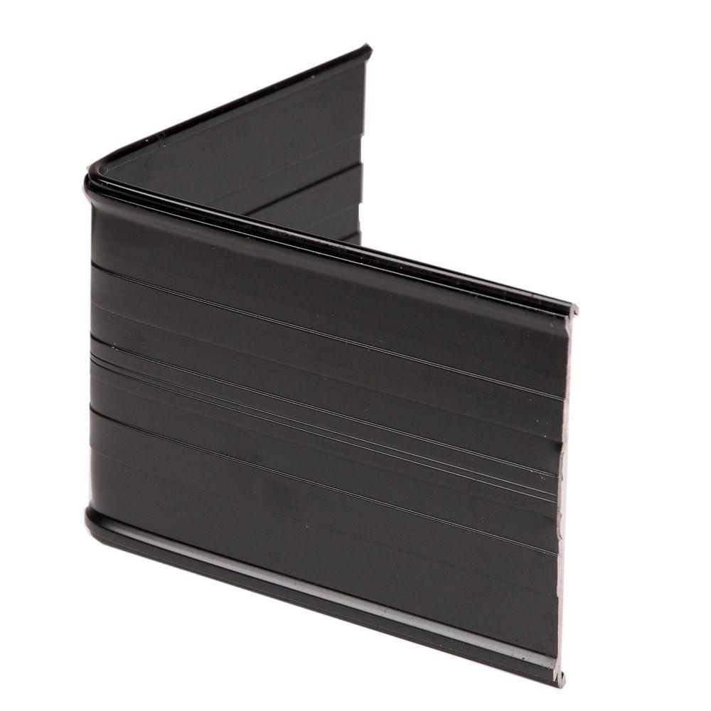 90° Aluminum Landscape Edging Black Corner Connector (4-Count)