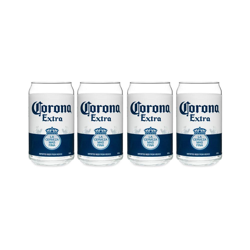 Corona 16 oz. Can Glass (Set of 4)