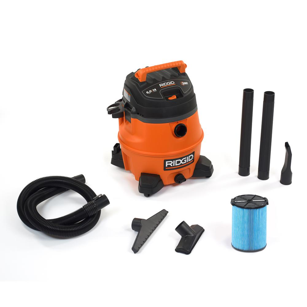 ridgid 14 gal 6 0 peak hp wet dry vac wd1450 the home depot rh homedepot com Shop-Vac Parts RIDGID WD1450 Ridgid WD1450 Review
