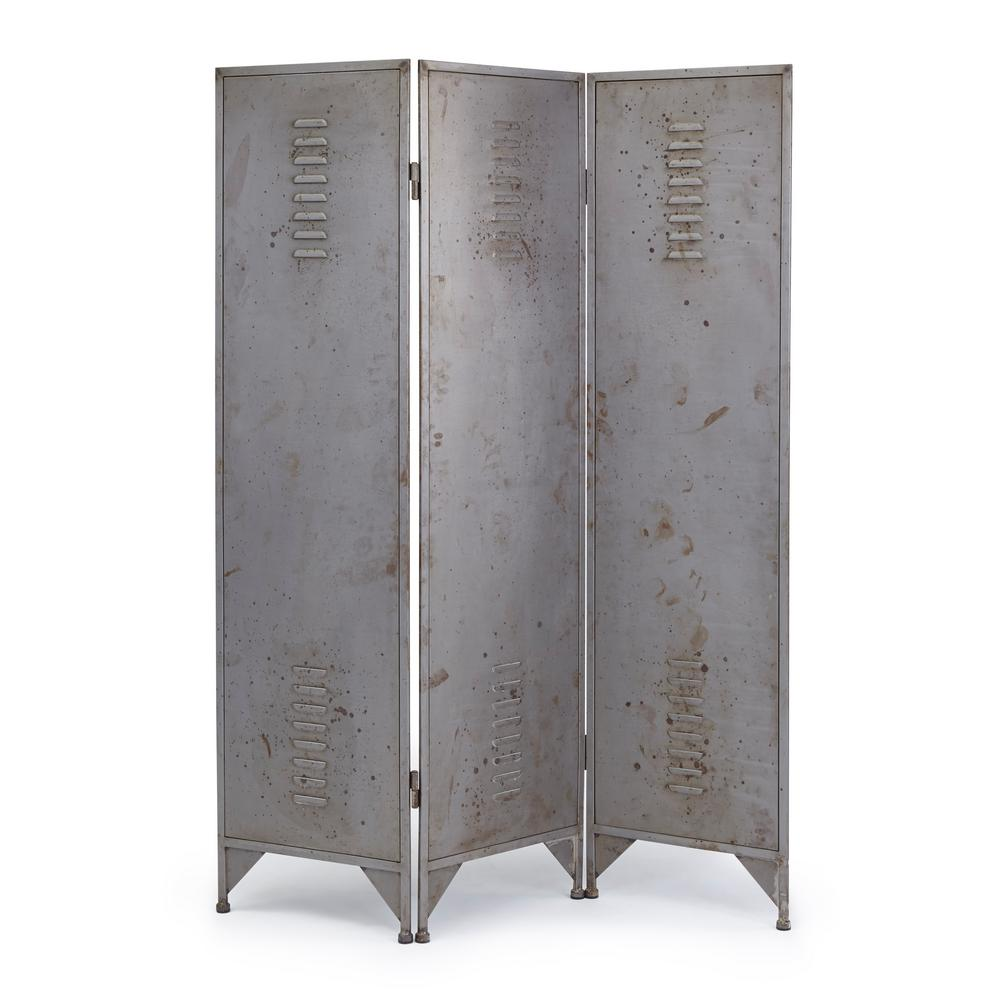 Progressive Furniture Asher Aged Gunmetal Room Divider Screen A154 18 The Home Depot