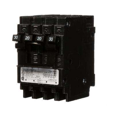 Quadplex One Outer 20 Amp Double-Pole and One Inner 30 Amp Double-Pole Circuit Breaker