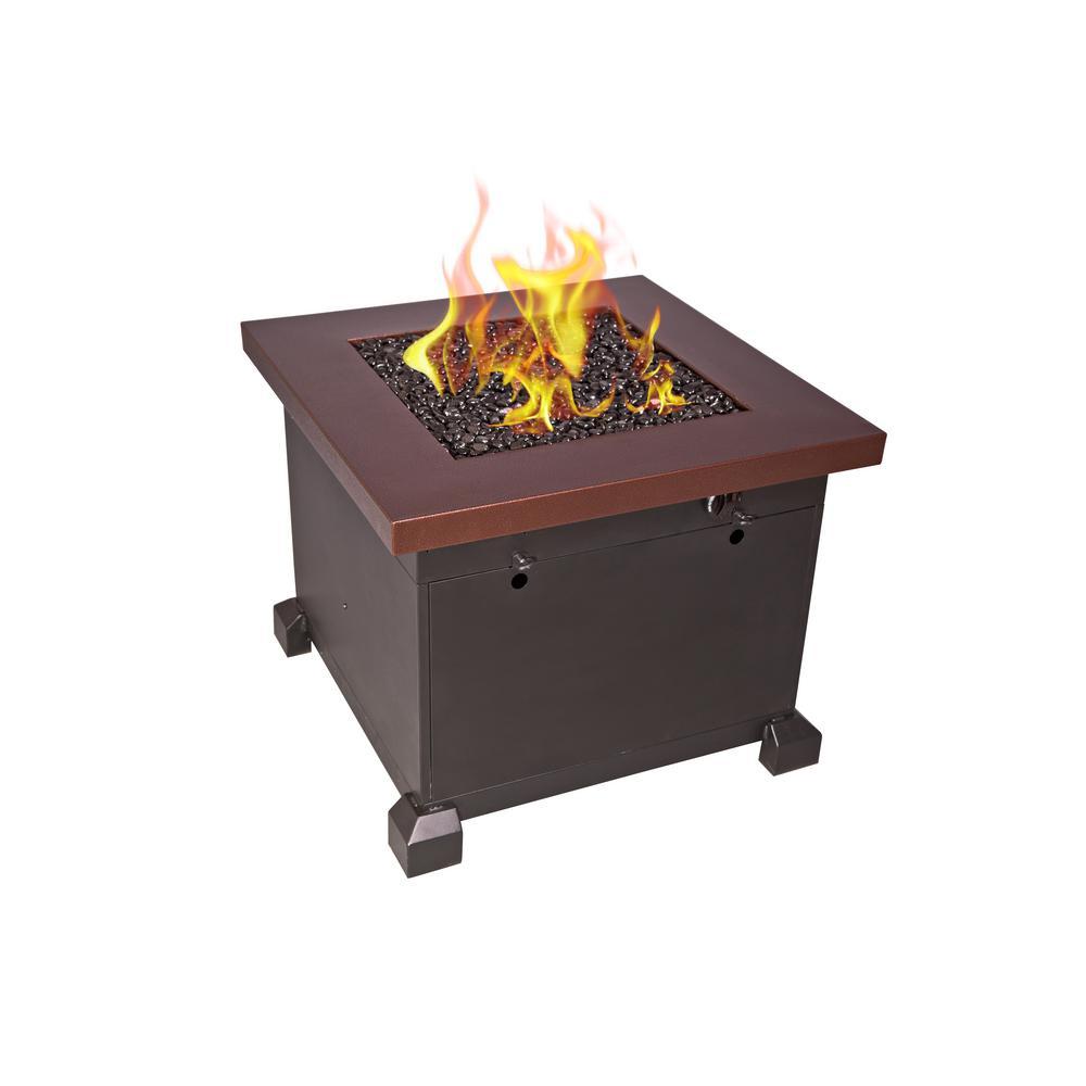 Camp Chef Santa Fe 30 in. x 24 in. x 30 in. Square Steel Propane Fire Pit Table in Bronze