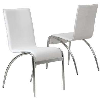 Kensington White PVC Dining Chairs (Set Of 2)