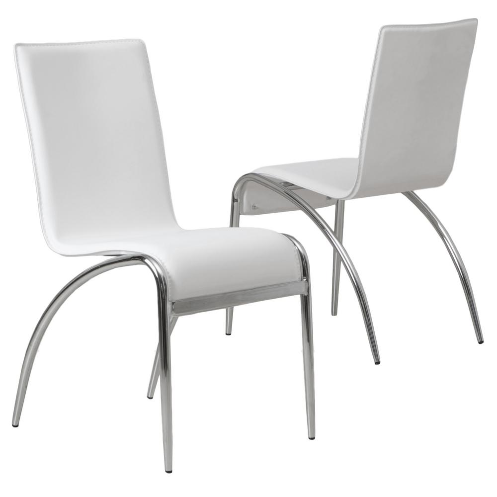 Cool Noble House Kensington White Pvc Dining Chairs Set Of 2 Download Free Architecture Designs Rallybritishbridgeorg