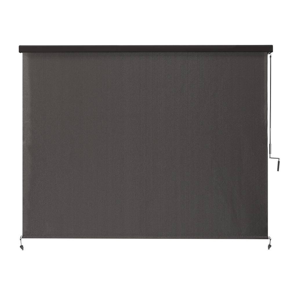 Coolaroo Montecito Cordless UV Blocking Fade Resistant Polypropylene Exterior Roller Shade 96 in. W x 96 in. L