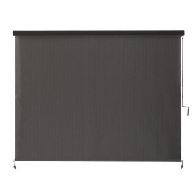 Montecito Cordless UV Blocking Fade Resistant Polypropylene Exterior Roller Shade 96 in. W x 96 in. L