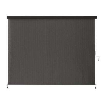 Montecito Cordless HDPE 95% UV Block Exterior Roller Shade with Full Cassette - 96 in. W x 96 in. L