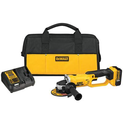 20-Volt MAX Lithium-Ion Cordless 4-1/2 in. to 5 in. Grinder with 5 Ahr Battery and Charger