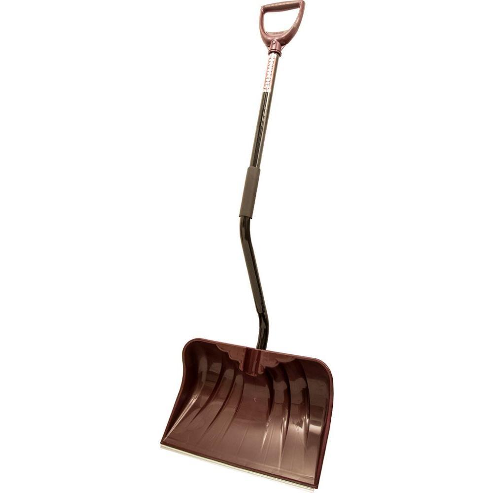 Original Back-Saver 20 in. Ergonomic Steel Handle Poly Combo Blade Snow Shovel
