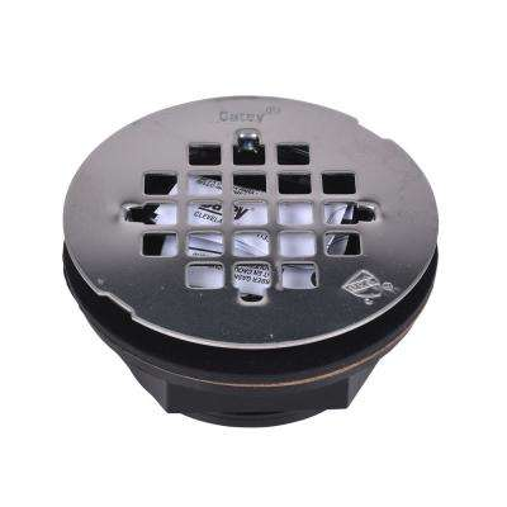 ABS No-Caulk Shower Drain with Round 4-1/4 in. Stainless Steel Strainer