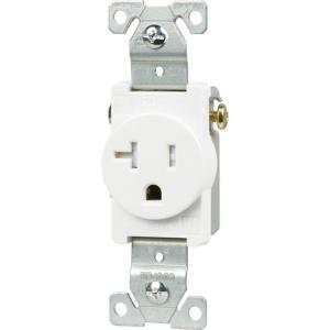white eaton outlets receptacles tr1877w 64_300 leviton 20 amp commercial grade double pole single outlet, white  at edmiracle.co