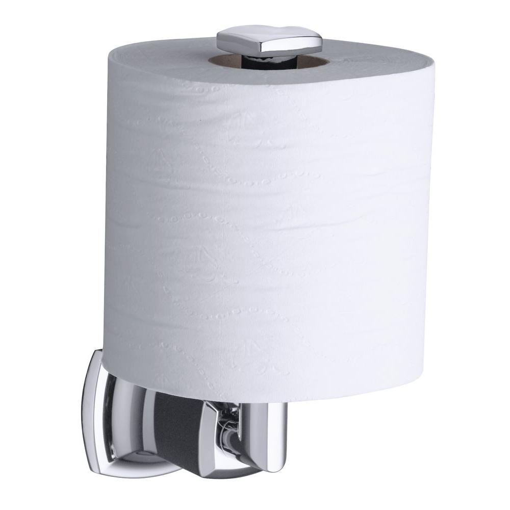Kohler Margaux Vertical Wall Mount Single Post Toilet Paper Holder In Polished Chrome