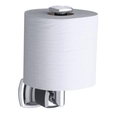 Margaux Vertical Wall-Mount Single Post Toilet Paper Holder in Polished Chrome