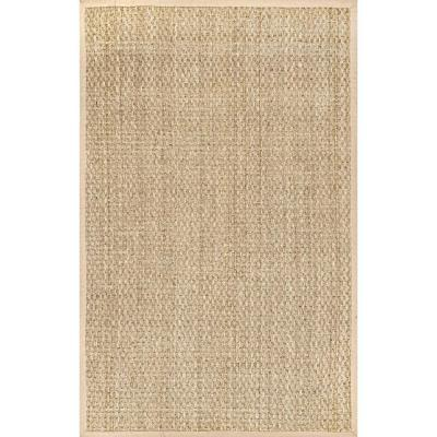 Hesse Checker Weave Seagrass Natural 9 ft. x 12 ft. Indoor/Outdoor Area Rug