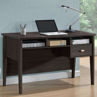 Folio Black Espresso Single Drawer Desk