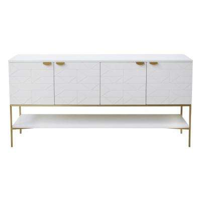 Palmoa Blanco White Console Table