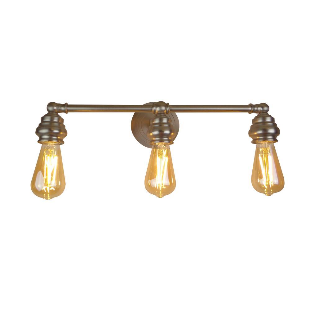 Tiffany 3-Light Brushed Nickel Bath Light