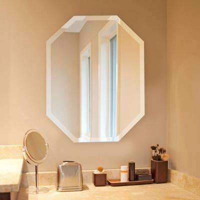 28 in. x 22 in. Octagonal Frameless Mirror