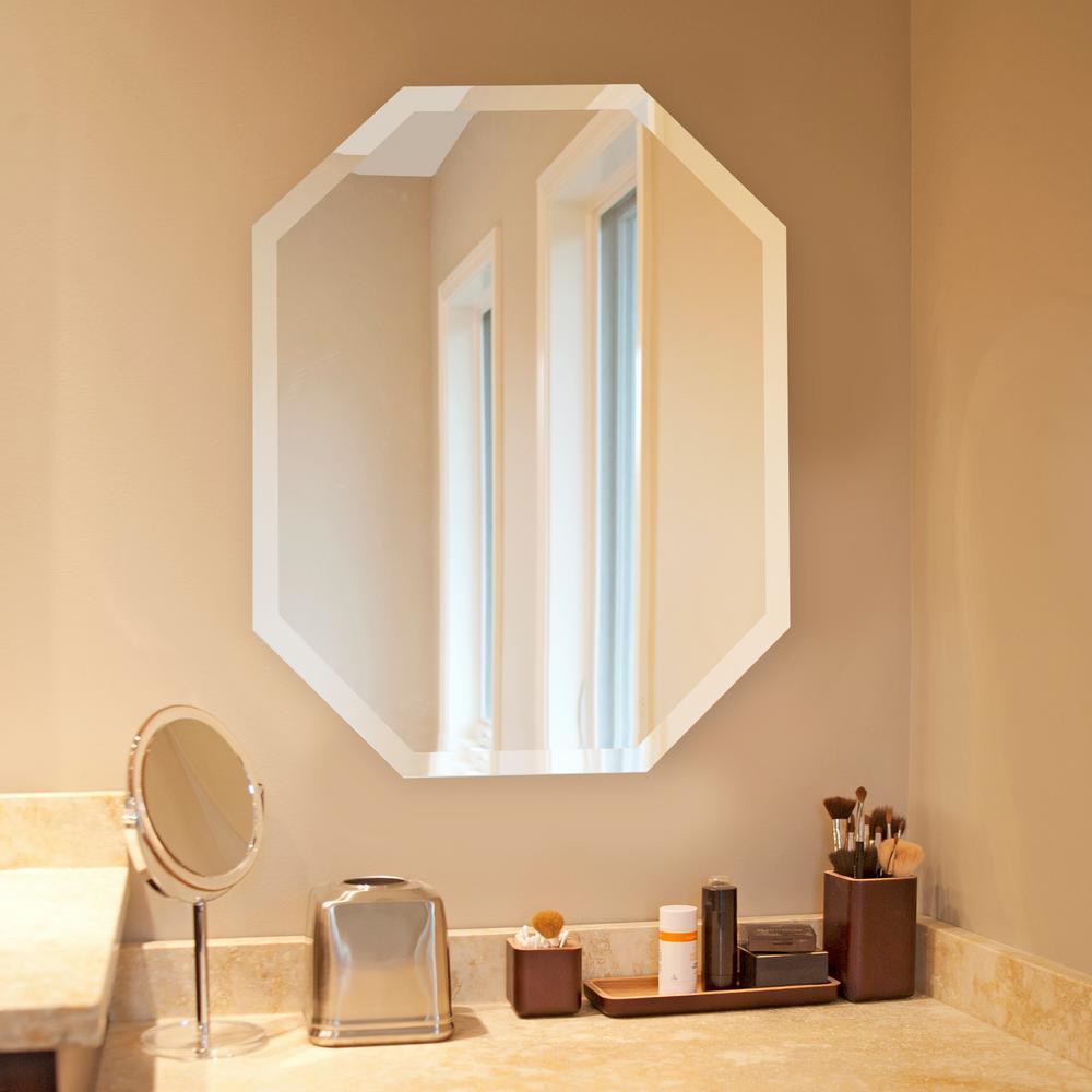 28 in. x 22 in. Octagonal Frameless Mirror