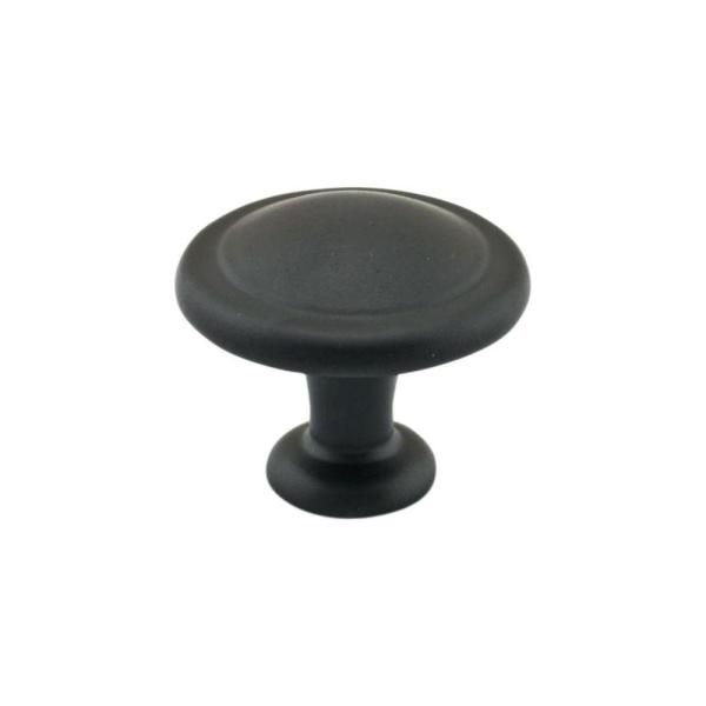 1-1/4 in. (31.5 mm) Matte Black Cabinet Knob