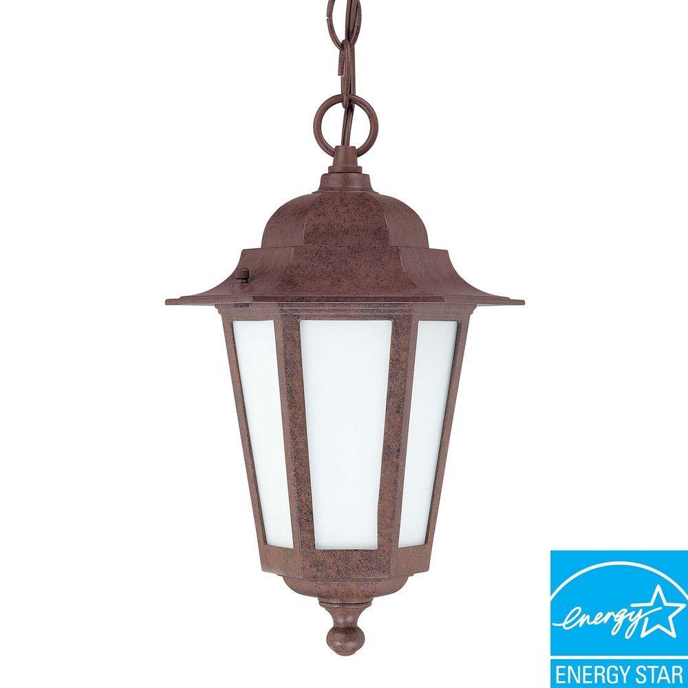 Cornerstone 1-Light Outdoor Old Bronze Hanging Lantern