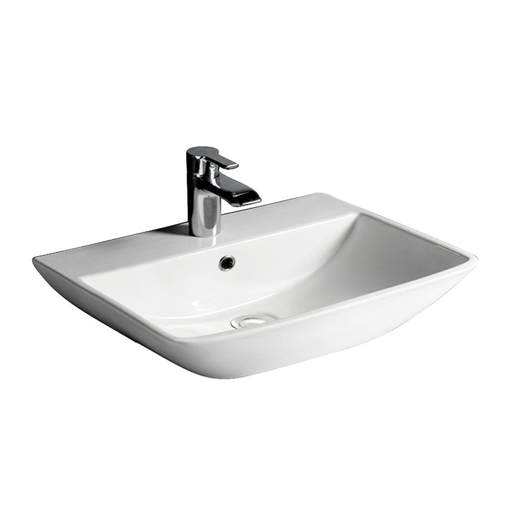 Barclay Products Summit 500 Wall-Hung Bathroom Sink In White-4-761WH