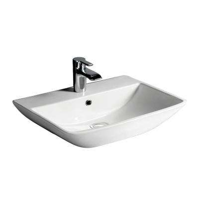 Summit 500 Wall-Hung Bathroom Sink in White