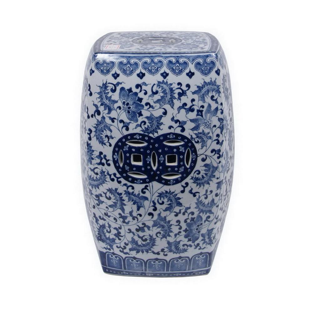 blue and white ceramic garden stool - Ceramic Garden Stool