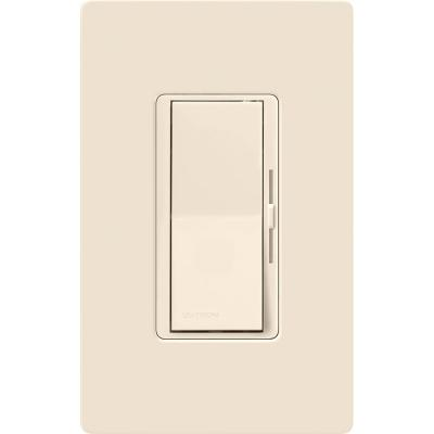 Diva Dimmer for Incandescent and Halogen with Wallplate, 600-Watt, Single-Pole, Light Almond