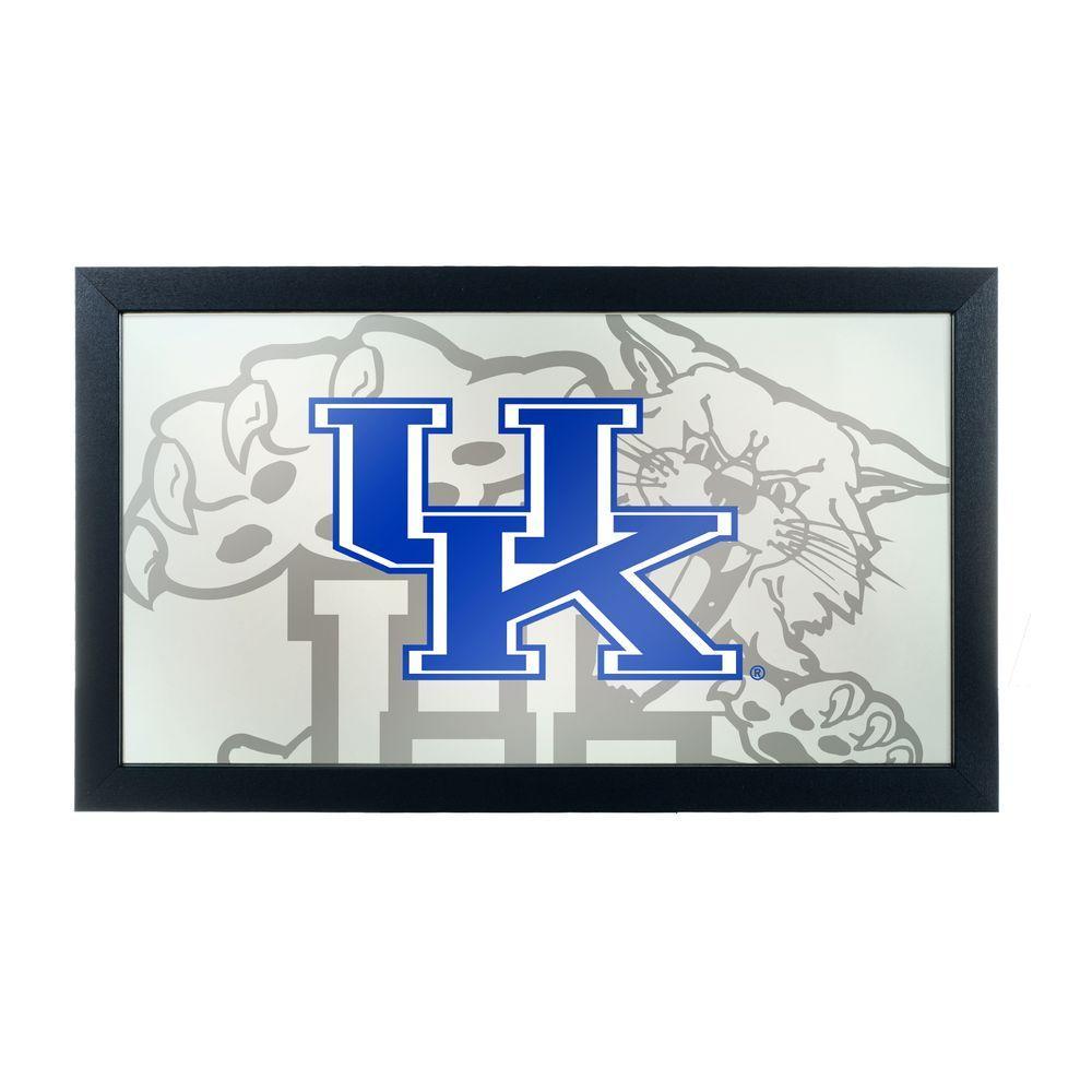 University of Kentucky Fade 15 in. x 26 in. Black Wood Framed Mirror